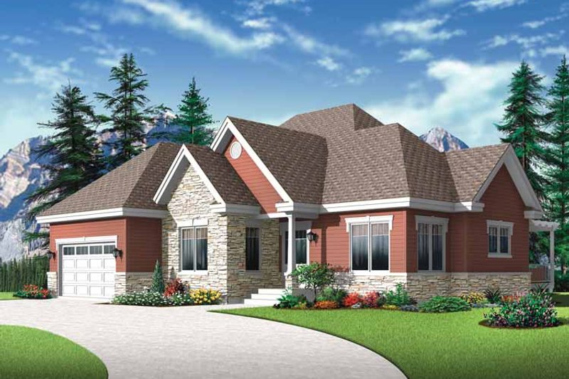 Home Plan - Country Exterior - Front Elevation Plan #23-2527