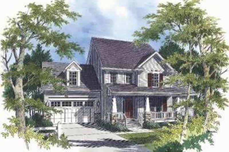 Craftsman Exterior - Front Elevation Plan #48-135