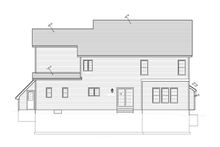 Colonial Exterior - Rear Elevation Plan #1010-37