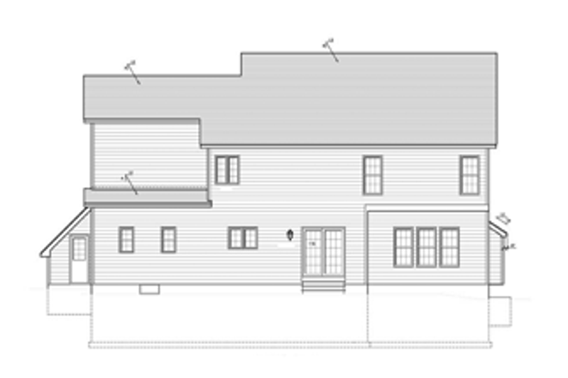 Colonial Exterior - Rear Elevation Plan #1010-37 - Houseplans.com