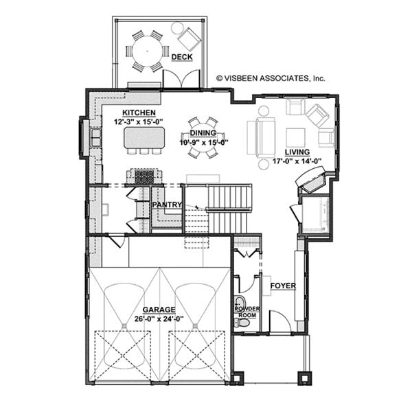 Craftsman Floor Plan - Main Floor Plan Plan #928-268
