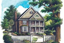 Dream House Plan - Country Exterior - Front Elevation Plan #929-867