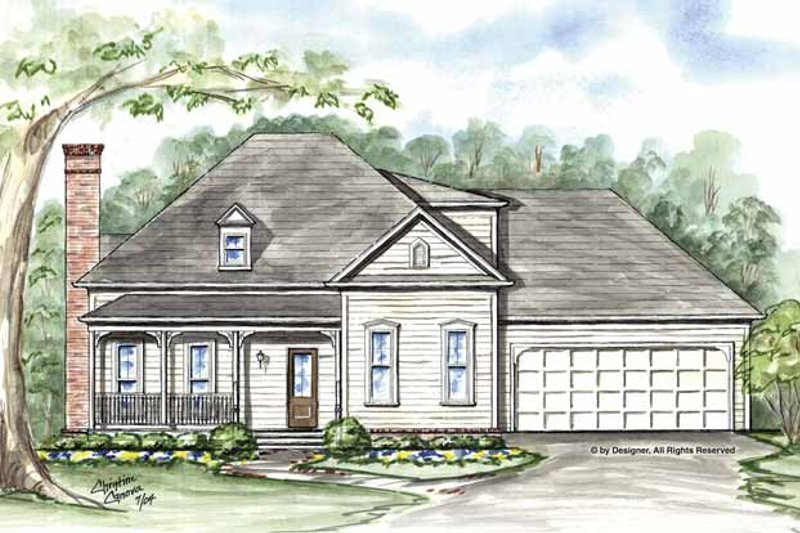 Traditional Exterior - Front Elevation Plan #54-320 - Houseplans.com