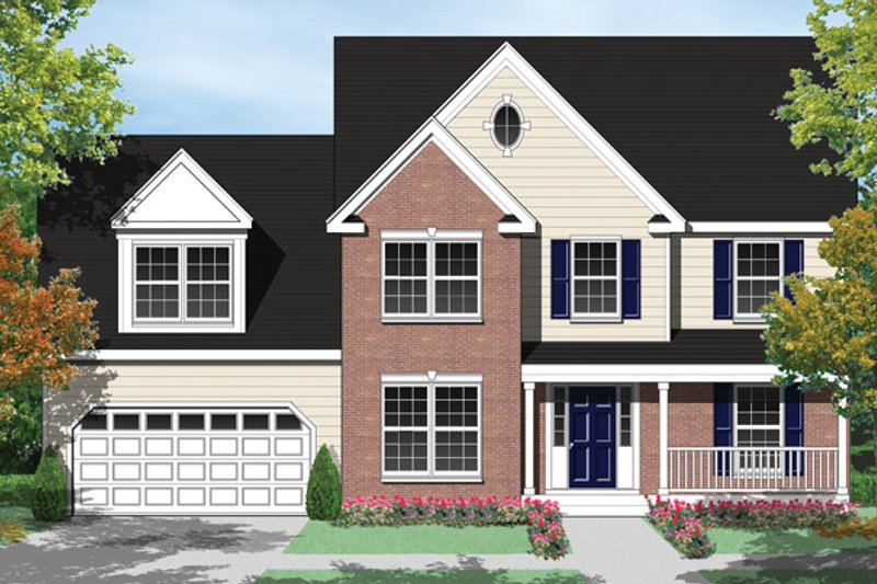 Country Exterior - Front Elevation Plan #1053-31