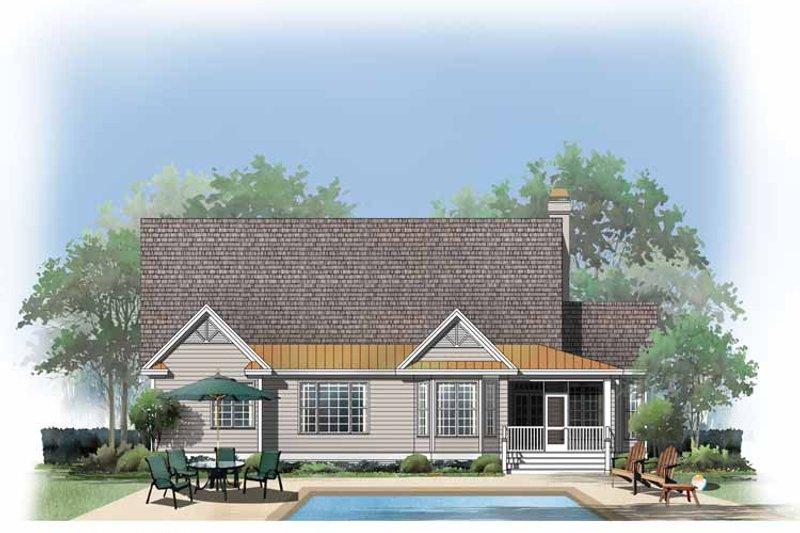 Country Exterior - Rear Elevation Plan #929-735 - Houseplans.com