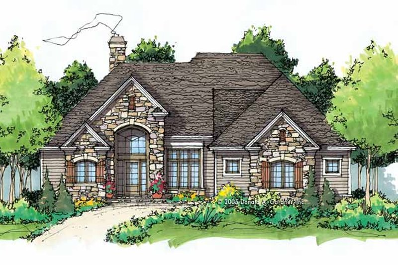 Craftsman Exterior - Front Elevation Plan #929-767