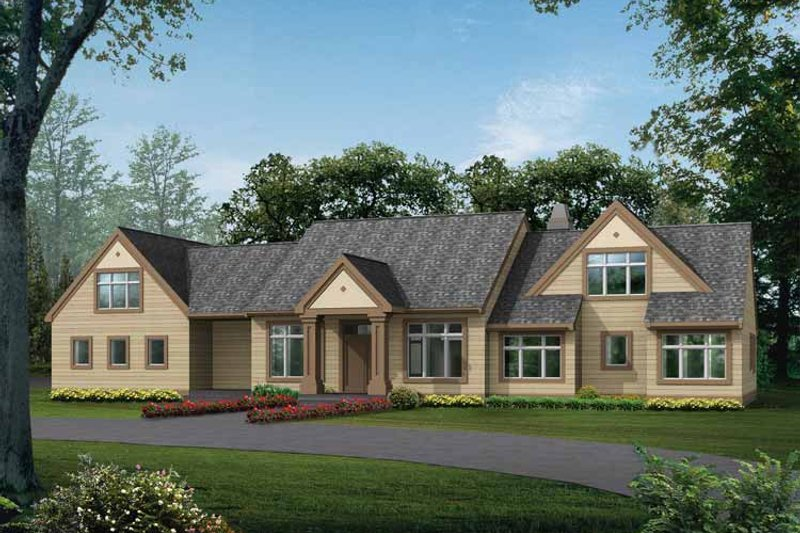 Dream House Plan - Craftsman Exterior - Front Elevation Plan #132-344