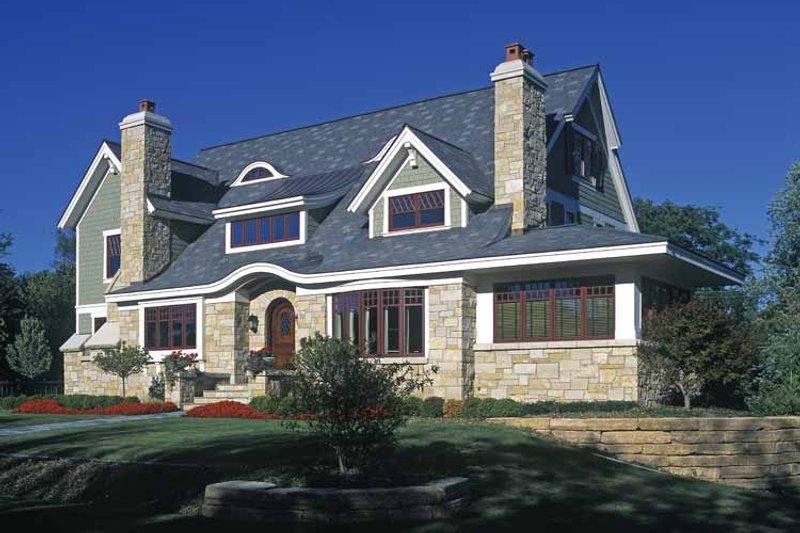 Craftsman Exterior - Front Elevation Plan #928-19 - Houseplans.com