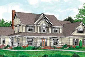 Dream House Plan - Country Exterior - Front Elevation Plan #11-266