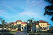 Mediterranean Style House Plan - 4 Beds 4.5 Baths 4398 Sq/Ft Plan #930-107 Exterior - Front Elevation