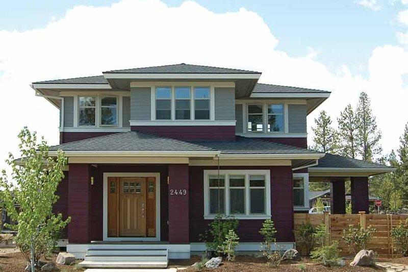 Architectural House Design - Prairie Exterior - Front Elevation Plan #895-62