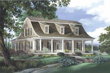 Colonial Exterior - Front Elevation Plan #137-338