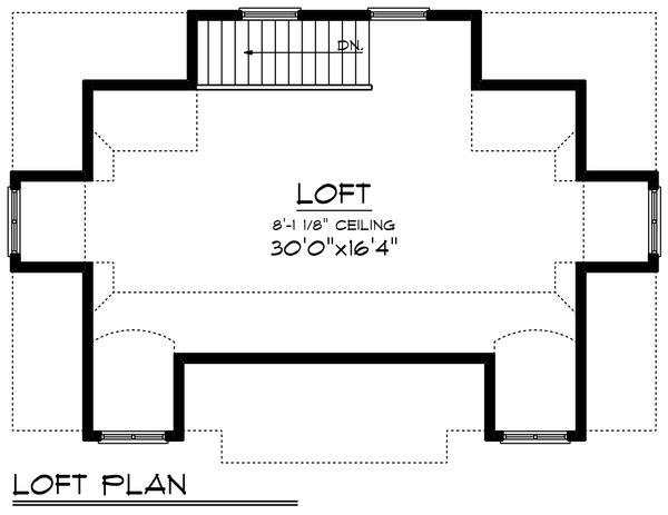 Cottage Floor Plan - Upper Floor Plan Plan #70-1409
