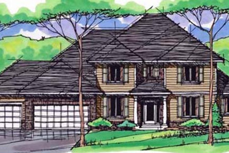 Traditional Exterior - Front Elevation Plan #51-387 - Houseplans.com