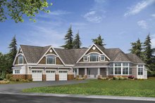 Architectural House Design - Craftsman Exterior - Front Elevation Plan #132-519