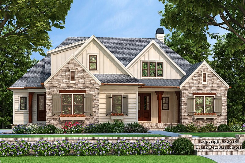 Country Style House Plan - 3 Beds 2.5 Baths 2073 Sq/Ft Plan #927-986 Exterior - Front Elevation