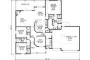 Traditional Style House Plan - 3 Beds 2 Baths 2159 Sq/Ft Plan #65-518 Floor Plan - Main Floor Plan
