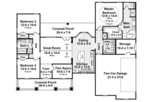 Ranch Floor Plan - Main Floor Plan Plan #21-435