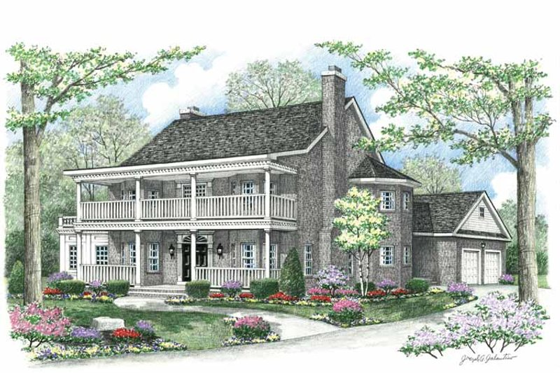 Country Exterior - Front Elevation Plan #1002-10 - Houseplans.com