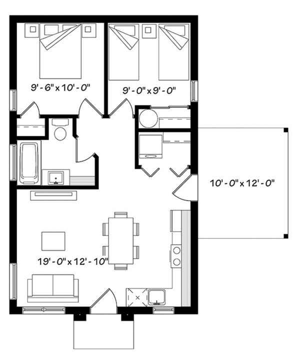 House Plan Design - Ranch Floor Plan - Main Floor Plan #23-2606