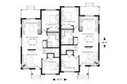 Contemporary Style House Plan - 2 Beds 1 Baths 2028 Sq/Ft Plan #23-2720 Floor Plan - Main Floor