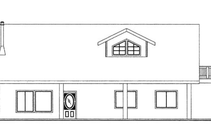 Contemporary Exterior - Front Elevation Plan #117-860 - Houseplans.com