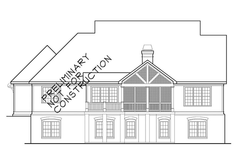 Colonial Exterior - Rear Elevation Plan #927-486 - Houseplans.com