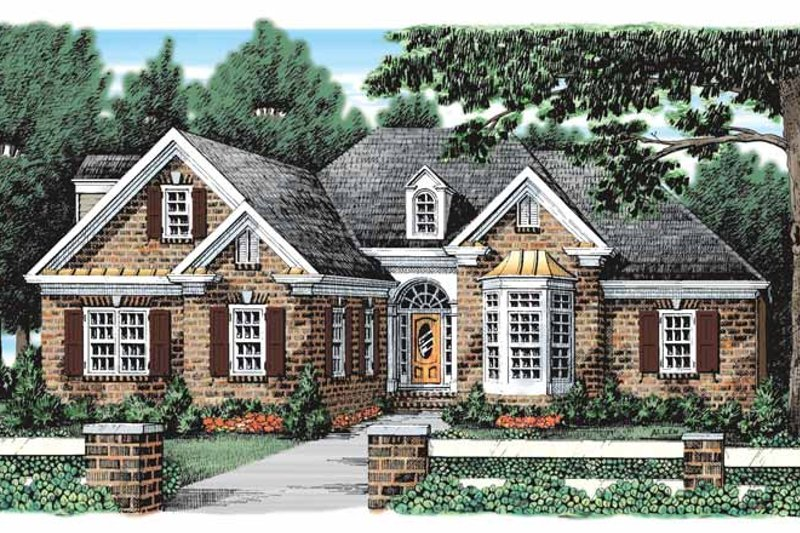 Traditional Exterior - Front Elevation Plan #927-921