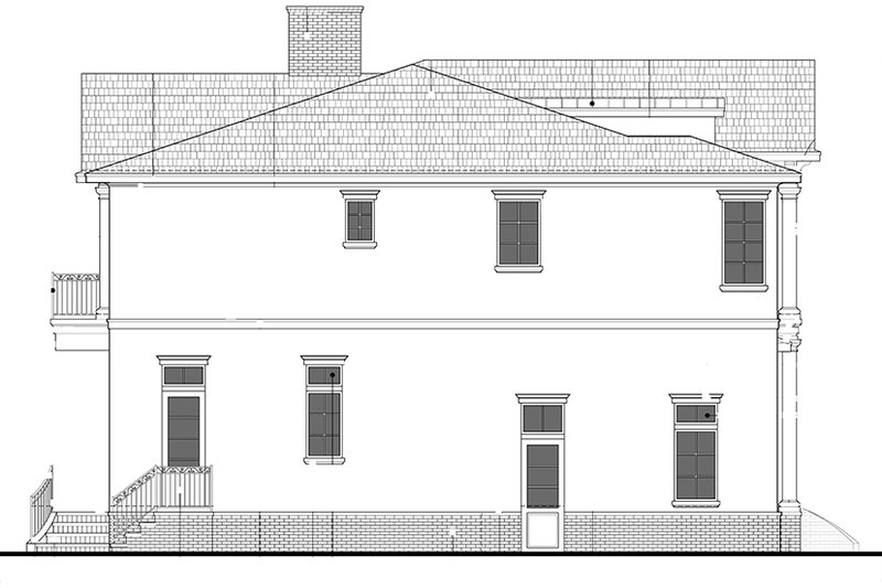 Colonial Exterior - Other Elevation Plan #1058-82 - Houseplans.com