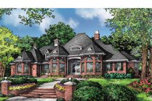 European Exterior - Front Elevation Plan #929-877