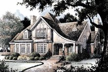 Home Plan - Tudor Exterior - Front Elevation Plan #429-364