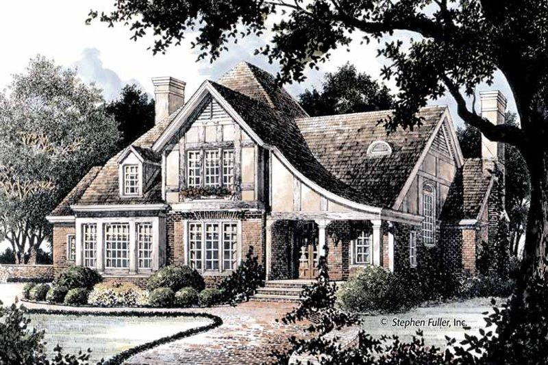 Tudor Exterior - Front Elevation Plan #429-364 - Houseplans.com