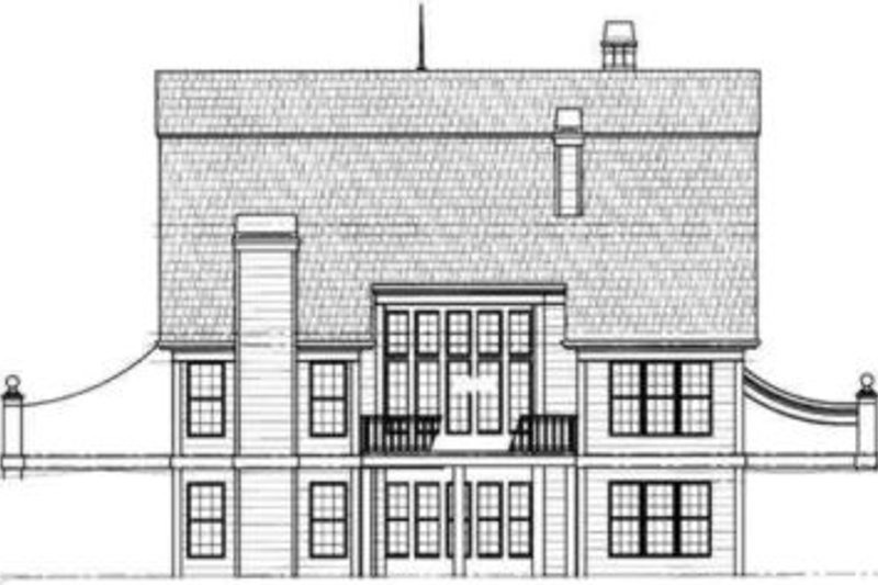Colonial Exterior - Rear Elevation Plan #119-143 - Houseplans.com