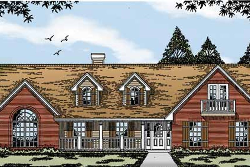 Country Exterior - Front Elevation Plan #42-580
