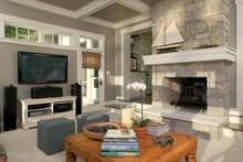 Dream House Plan - Traditional Interior - Family Room Plan #928-23