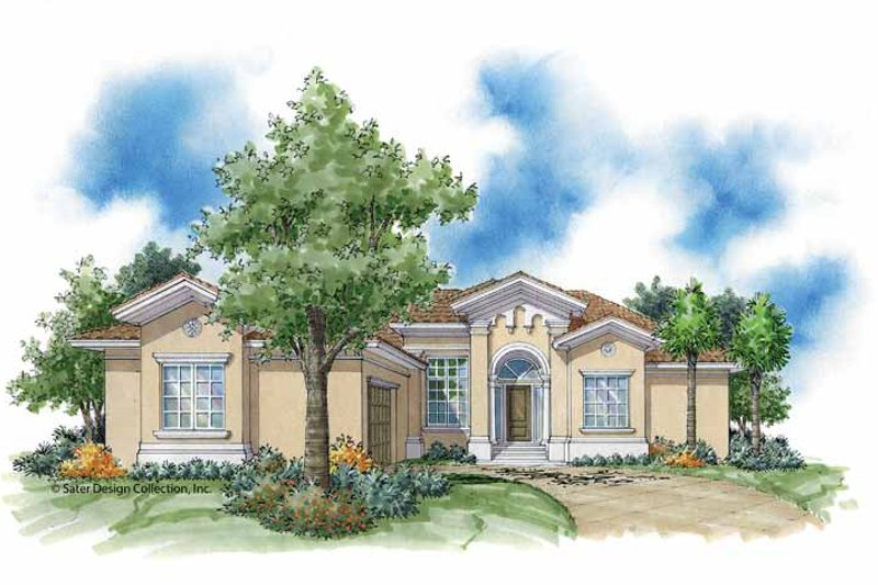 Mediterranean Exterior - Front Elevation Plan #930-377