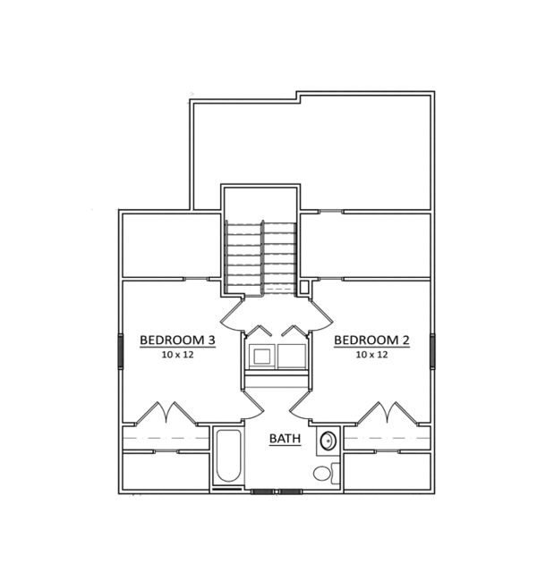 Craftsman Floor Plan - Upper Floor Plan Plan #936-1