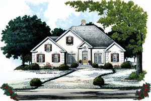 House Plan Design - Traditional Exterior - Front Elevation Plan #429-102
