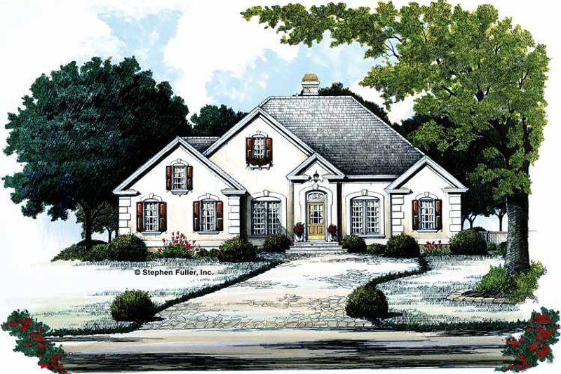 Traditional Exterior - Front Elevation Plan #429-102 - Houseplans.com