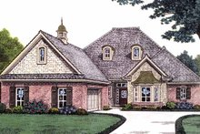 Country Exterior - Front Elevation Plan #310-1230