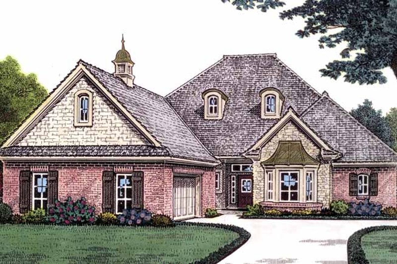 Dream House Plan - Country Exterior - Front Elevation Plan #310-1230