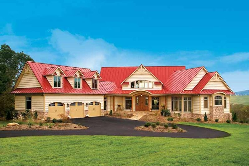 Craftsman Exterior - Front Elevation Plan #929-800