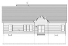 Architectural House Design - Ranch Exterior - Rear Elevation Plan #1010-72