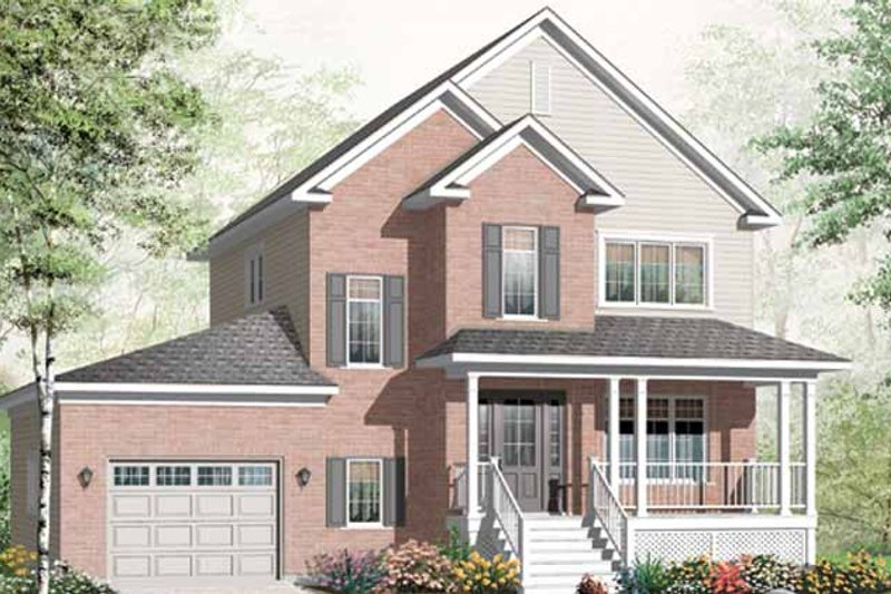 Country Exterior - Front Elevation Plan #23-2466 - Houseplans.com