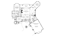 Craftsman Floor Plan - Main Floor Plan Plan #929-932