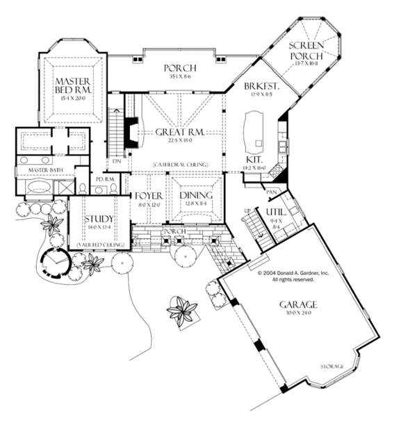 Dream House Plan - Craftsman Floor Plan - Main Floor Plan #929-932