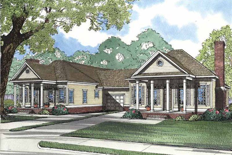Architectural House Design - Classical Exterior - Front Elevation Plan #17-3142