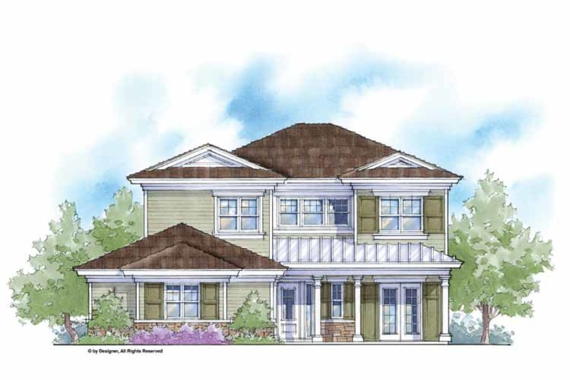 Country Exterior - Front Elevation Plan #938-7 - Houseplans.com