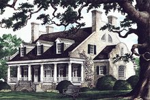 Architectural House Design - Country Exterior - Front Elevation Plan #137-233