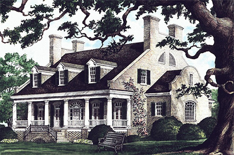 Country Exterior - Front Elevation Plan #137-233 - Houseplans.com